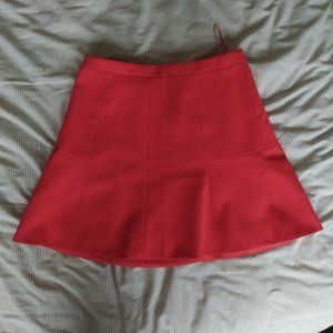 A-line red J Crew Skirt